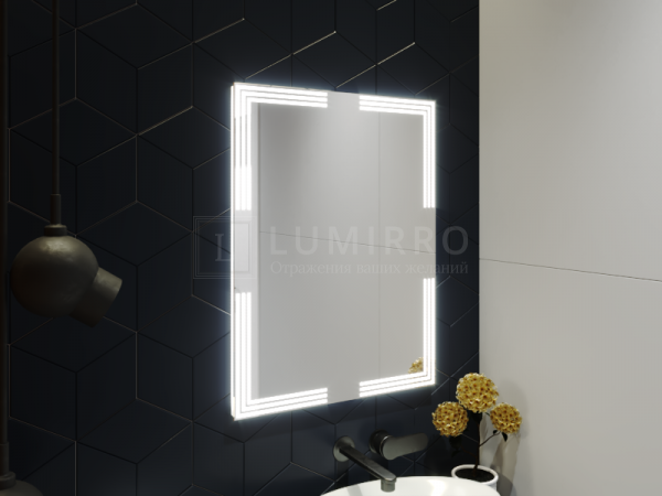 """Зеркало с подсветкой в ванную комнату """"Villaga"""""""