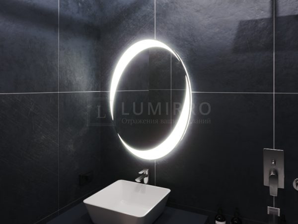 """Зеркало с подсветкой в ванную комнату """"Bresso"""""""