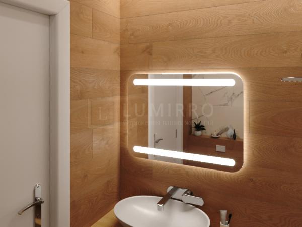 """Зеркало с подсветкой в ванную комнату """"Brix"""""""