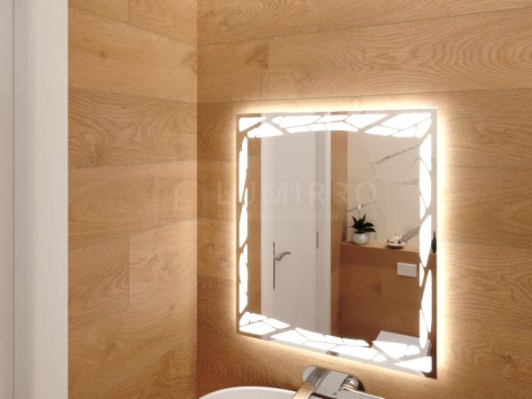 """Зеркало с подсветкой в ванную комнату """"Nochetto"""""""