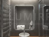 """Зеркало с подсветкой в ванную комнату """"July"""""""